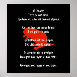 Poster francés rojo 2 del himno del castor del día