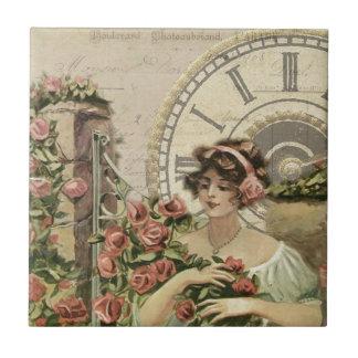Poster francés viejo azulejo cuadrado pequeño