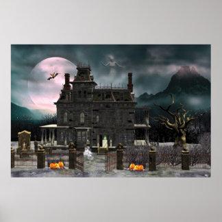 Poster frecuentado de la casa 2 de Halloween