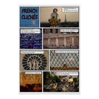 "Poster ""French Cliches"" Disentanglement"