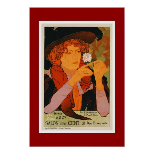 Poster French Salon Art Deco Print Print | Zazzle