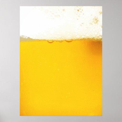 Poster fresco de la cerveza póster