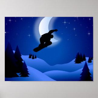 Poster fresco de la montaña de la snowboard de la