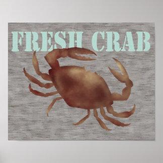Poster fresco del cangrejo