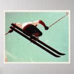 Poster fresco del vago del esquí