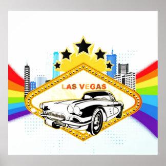Poster fresco del vector de Las Vegas