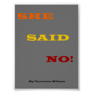 "Poster from book called ""She Said No"" by Me"