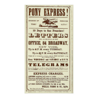 Poster from the Pony Express: American History