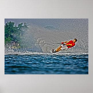 Poster fuerte del esquí náutico del Tirón-Eslalom