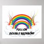 POSTER - FULL-ON DOUBLE RAINBOW