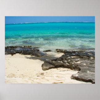"""Poster full size (24""""x18"""")  Sea Rocks Sand Vanuatu"""