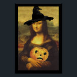 "Poster Fun Renaissance Mona Lisa Halloween Witch<br><div class=""desc"">Poster with the Mona Lisa as a witch.. fun conversation piece for your Halloween party and all year round!  Enjoy Life &amp; Thanks For Stopping By!</div>"
