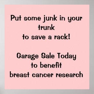 Poster Fundraising de la venta de garaje