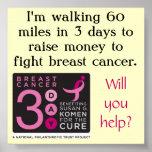 poster Fundraising de tres días
