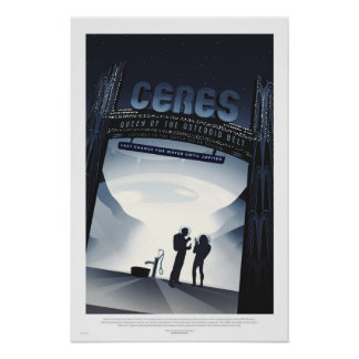 Poster futurista retro del viaje - Ceres