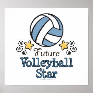 Poster futuro de la estrella del voleibol póster