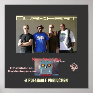 Poster futuro del café del mundo de Burkhart