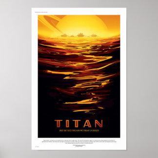 Poster futuro del viaje de la NASA - titán