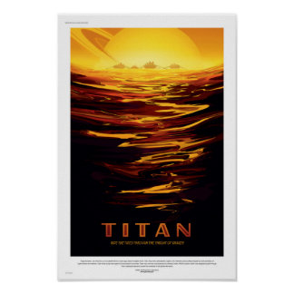 Poster futuro del viaje de la NASA - titán Póster