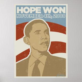 "Poster ganado ""esperanza"" de presidente Obama"