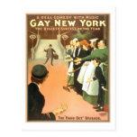 Poster gay del teatro de Nueva York del vintage Postal