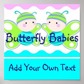 Poster gemelo de los bebés
