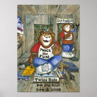Poster gemelo del sitio de los muchachos