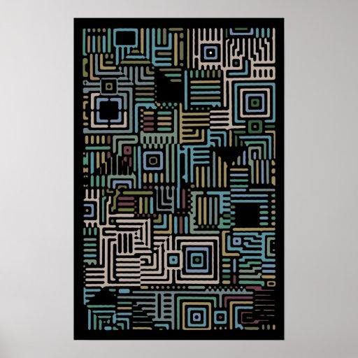 Poster geométrico 500