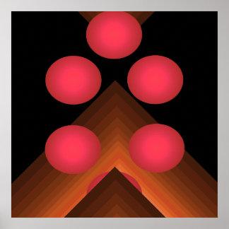 Poster geométrico brillante 10 del arte pop del co