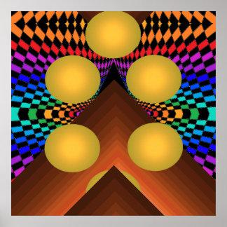 Poster geométrico brillante 1 del arte pop del col