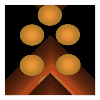 Poster geométrico brillante 1b del arte pop del co