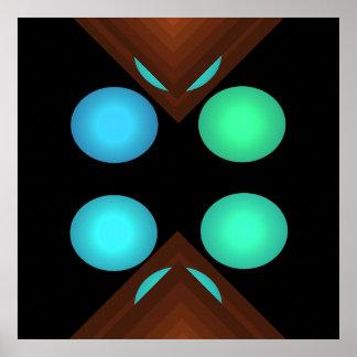 Poster geométrico brillante 3 del arte pop del col