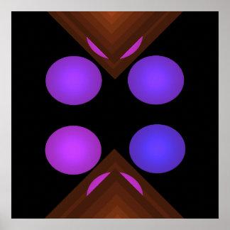 Poster geométrico brillante 6 del arte pop del col