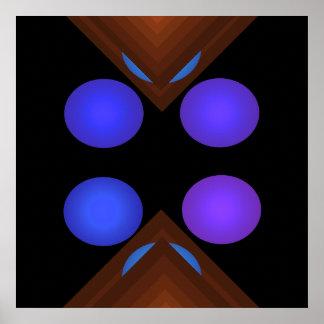 Poster geométrico brillante 7 del arte pop del col