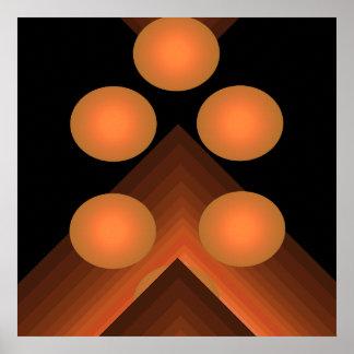 Poster geométrico brillante 9 del arte pop del col