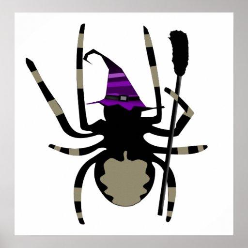 poster gigante de Halloween de la araña de la bruj Póster