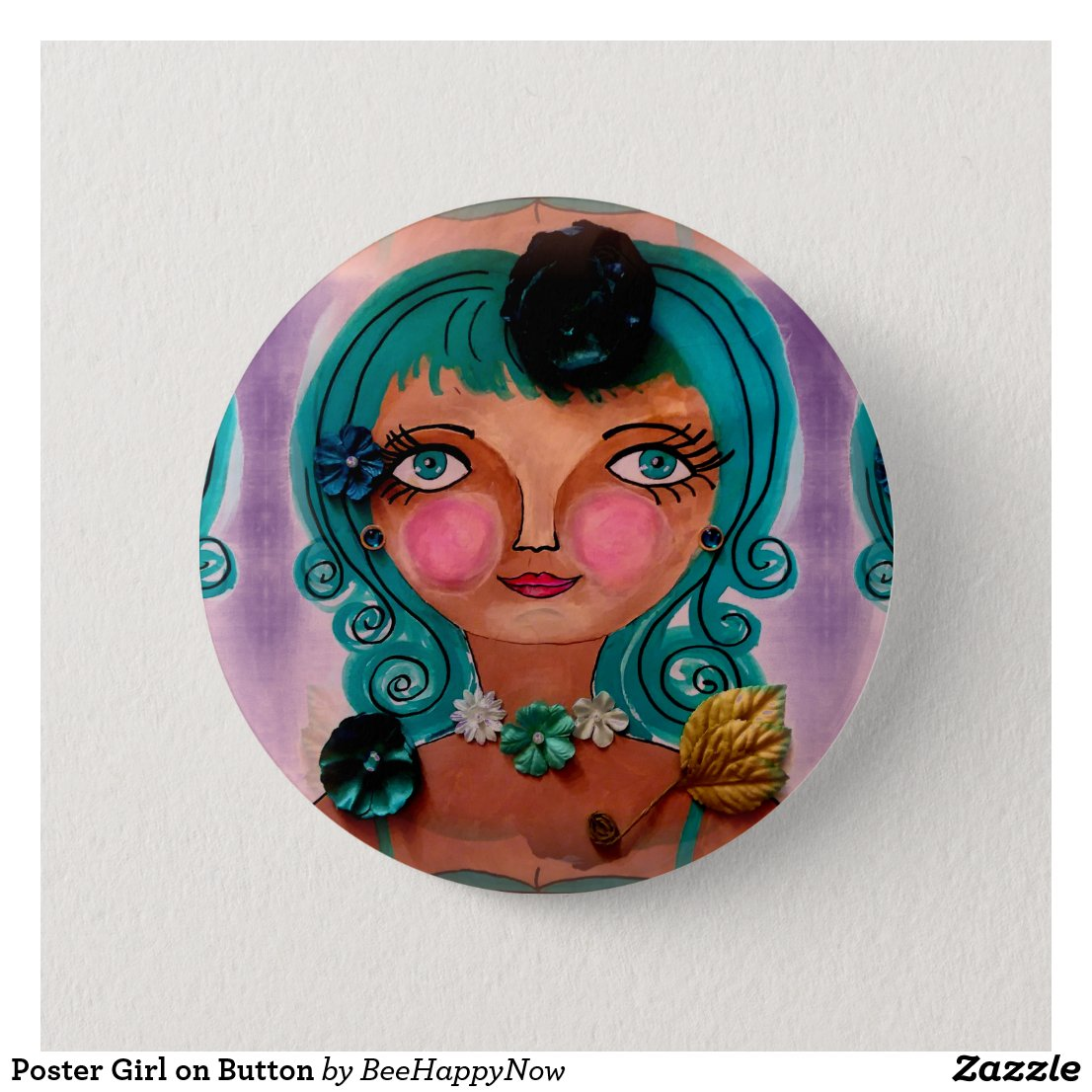 Poster Girl on Button