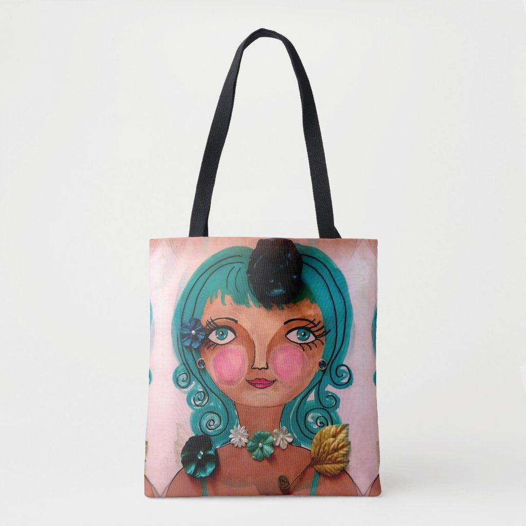Poster Girl on Tote Bag