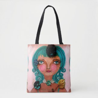 Poster Girl on Tote Bag