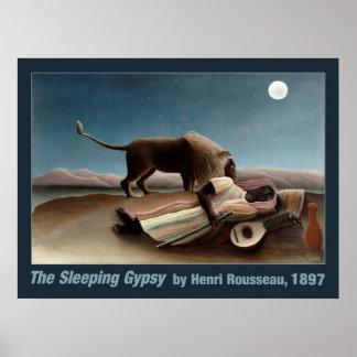 Poster gitano el dormir de Rousseau