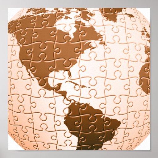 Poster global del rompecabezas