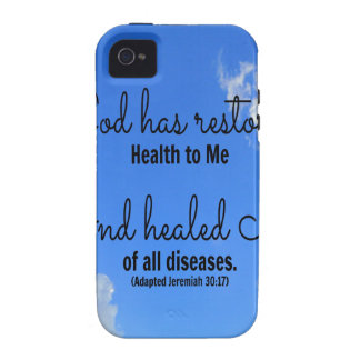 poster God has restored health to me iPhone 4/4S Case