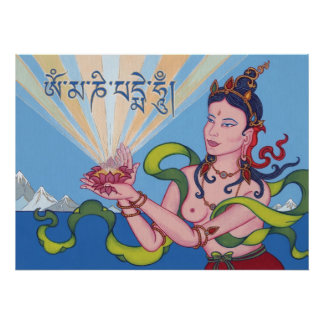 POSTER Goddess with Mantra - starting from $14.25