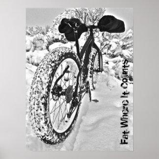 Poster gordo dulce de la bici