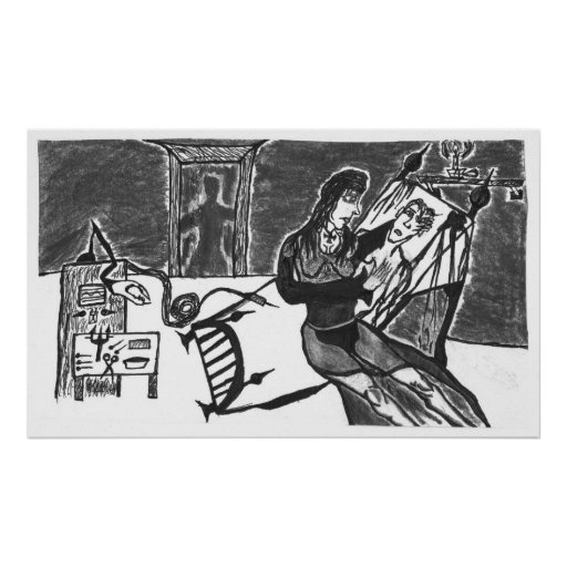 Poster gótico de la enfermera