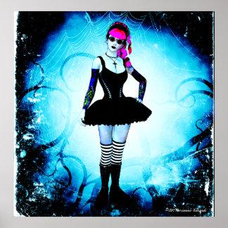 Poster gótico de la espina de la bailarina de Loli