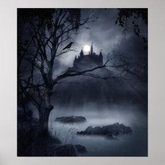 Poster gótico de la fantasía de la noche