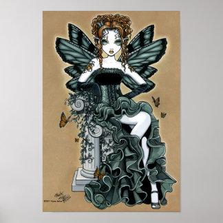 Poster gótico de la hada de la mariposa de las cos
