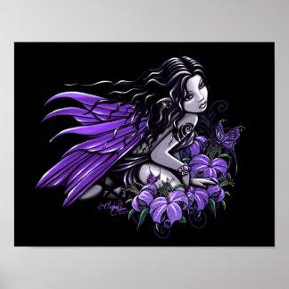 """Poster gótico de la hada de la mariposa del """"peque póster"""