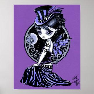 """Poster gótico de la hada del Victorian de """"Audrey"""""""